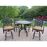 Hampton 5pc 42Inch Bar Set with Sunbrella Cushions