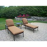 Hampton 3pc Lounge Set with Sunbrella Cushions