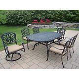Hampton 7pc 72In x 42In Dining Set with Cushions