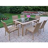 Sun Shade 7pc Wicker Dining Set