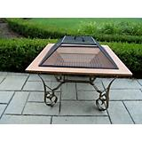 Victoria 33Inch Copper Plated Fire pit with Grill