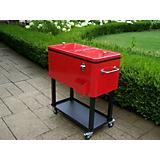 Steel 80qt Patio Cooler with Cart