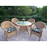 Resin Wicker 5pc Dining Set with Cushions