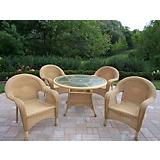 Resin Wicker 5pc Dining Set