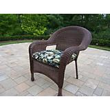 Resin Wicker Arm Chair with Cushion