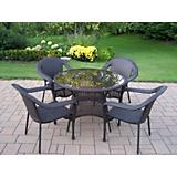 Elite Resin Wicker 5pc Dining Set