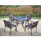 Elite Tuscany Resin Wicker 5pc Dining Set