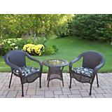 Elite Resin Wicker 3pc Set with Cushions