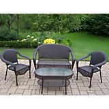 Elite Resin Wicker 4pc Seating Set
