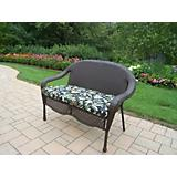 Elite Resin Wicker Loveseat w/CushIon
