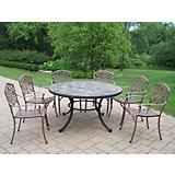 Stone Art 54in 7pc Dining Set