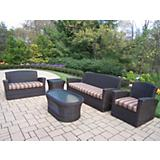 Savannah 5pc Wicker Set with Cushions
