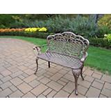 Mississippi Cast Aluminum Love Seat Bench