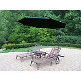 Mississippi 3pc Lounge Set w/ Offset Umbrella