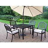 Rochester 5pc Set w/ Cushions plus Umbrella