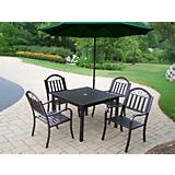 Rochester 5pc Dining Set w/ Offset Umbrella