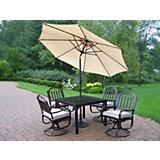 Rochester 5pc Dining Set w/ Cushon n Umbrella