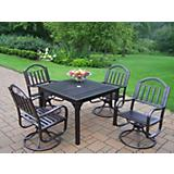 Rochester 40Inch x 40Inch 5pc Swivel Dining Set