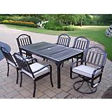 Rochester 7pc Set w/ 2 Swivel Chairs and Cushions