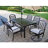 Rochester 7pc Set w/ 2 Swivel Chair n Umbrella