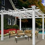 New England Arbors Avalon Louvered Pergola