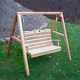 Cedar Royal Country Hearts Porch Swing w/Stand