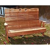 Cedar Royal Country Hearts Garden Bench