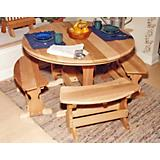 Cedar Round Trestle Dining Set