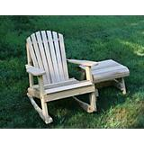 Cedar American Forest Adirondack Rocker and Table