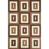 Sawgrass Mills Outdoor Geo Blocks Brown Rug