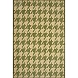 Sawgrass Mills Outdoor Houndstooth Pesto Rug