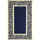 Sawgrass Mills Outdoor Mosaic Border Blue Rug