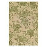 Sawgrass Mills Outdoor Palmae Pesto Rug