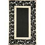Sawgrass Mills Outdoor Penelope Black Rug