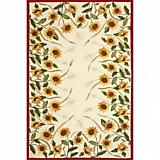 Sawgrass Mills Outdoor Sunflowers Oatmeal Rug