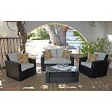 Key West 4 Pcs Set W/ Sand Outdoor Cushion