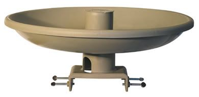 Farm Innovators All Season Bird Bath W/ Deck Mount