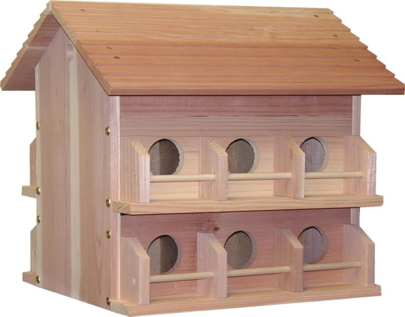 Heath 12 Room Deluxe Redwood Martin House W/ Rails