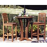 Outdoor Interiors Eucalyptus Round Bar Table