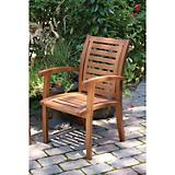 Outdoor Interiors Luxe Eucalyptus Arm Chair