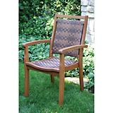 Outdoor Interiors All-Weather Eucalyptus Arm Chair