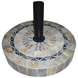 Outdoor Interiors Tumbled Marble Umbrella Base