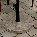 Outdoor Interiors Brown Marble Umbrella Base