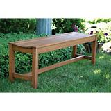 Outdoor Interiors 3 Person Backless Bench