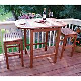 Outdoor Interiors Pub Table Fold For More Seat