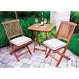 Outdoor Interiors 3Pc Square Bistro Set W/ Cushion
