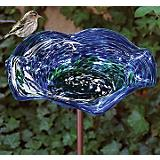 Echo Valley Illuminary Swirl Birdbath