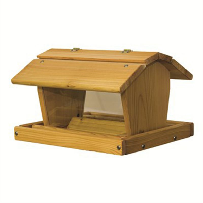 Stovall Wood 14 lb Large Barn Feeder (SP4F 894259002096 Wild Bird Supplies Bird Feeders) photo