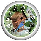 Springfield Birdhouse Patio Thermometer