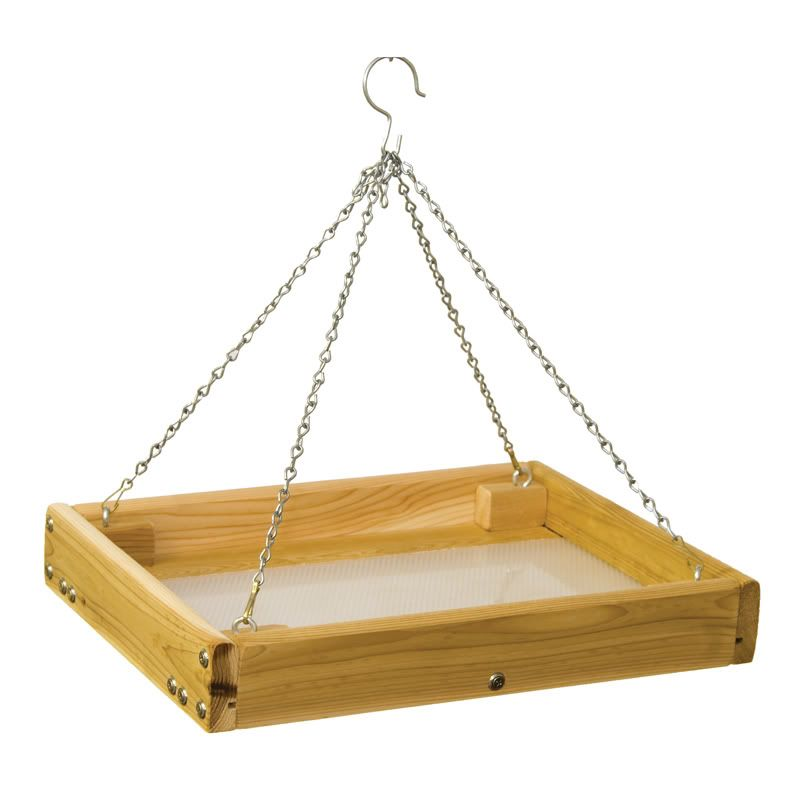 Stovall Small Screen Hanging Feeder Tray (SP14FH 894259002775 Wild Bird Supplies Bird Feeders) photo
